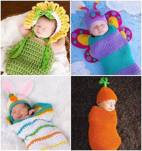 вязаные костюмчики для новорожденных мамы и дети 59277 Taborru
