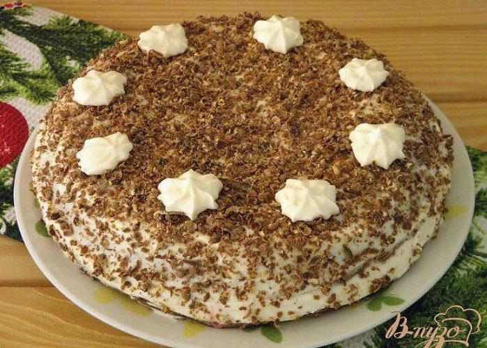 Фото рецепт торта лакомка