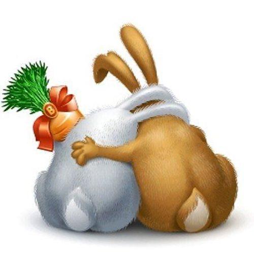Совет, открытка зайчики обнимаются
